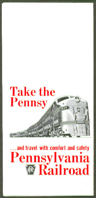 Count Your Saving Pennyslvania Railroad Family Fares folder