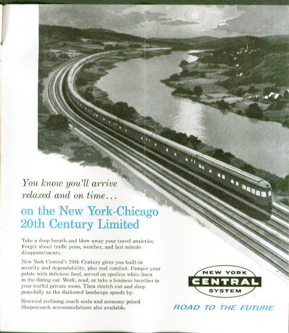 New York Central RR Time Table 10/27 1963