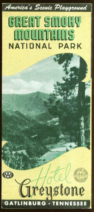 Hotel Greystone Great Smoky Mountauns TN folder 1955