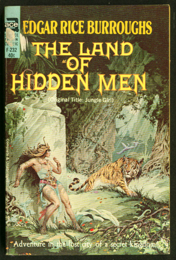 Burroughs The Land of Hidden Men sci-fi pb Krenkel