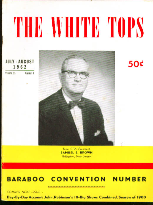 WHITE TOPS Baraboo Convention Robinson's 1900 7-8 1962