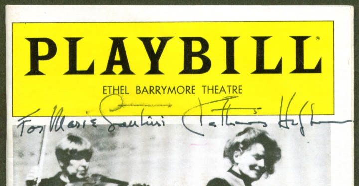 Katharine Hepburn SIGNED West Side Waltz Playbill 1982