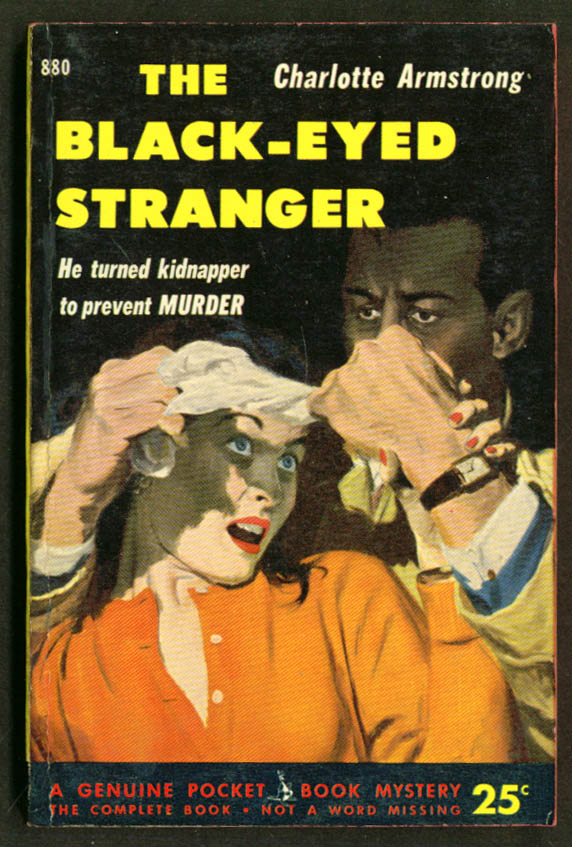 Armstrong The Black-Eyed Stranger noir pb woman grabbed