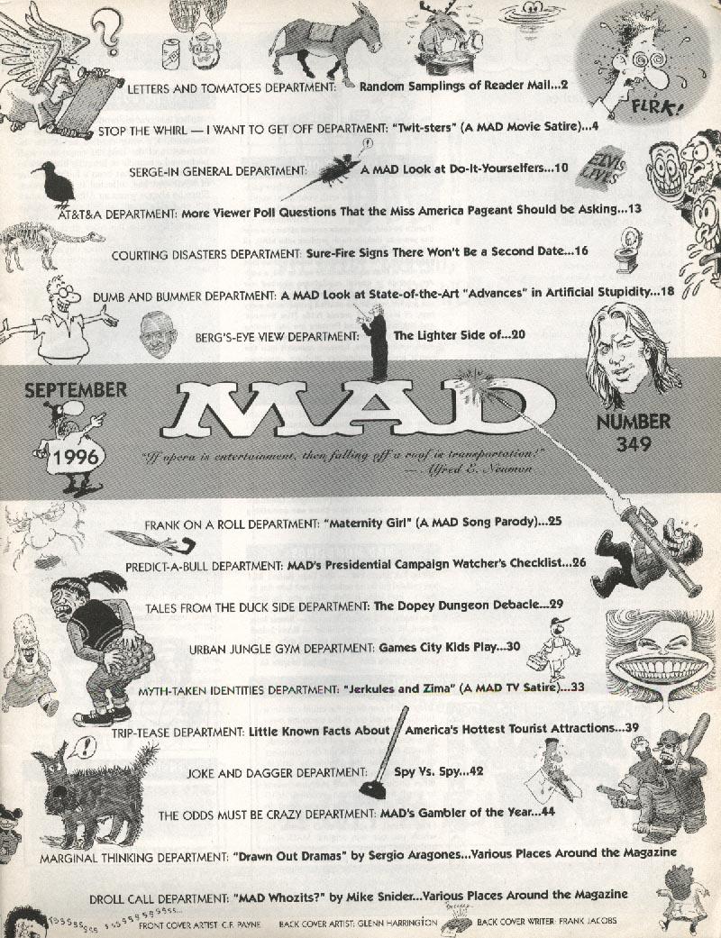 MAD #349 Madonna Twister Hercules Xena 9 1996