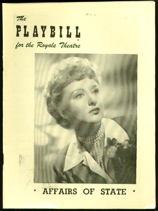 Celeste Holm Affairs of State Playbill 1950
