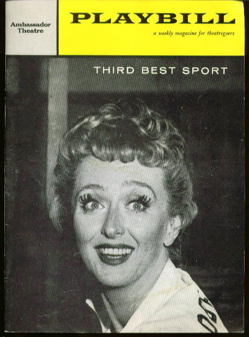Celeste Holm in Third Best Sport Playbill 1959