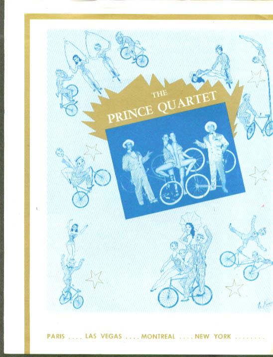 Prince Quartet Bicycle Act folder circus act 1950s