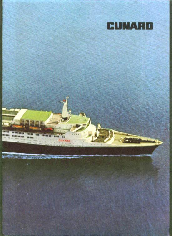 Cunard R M S Queen Elizabeth 2 Dinner Menu 1982