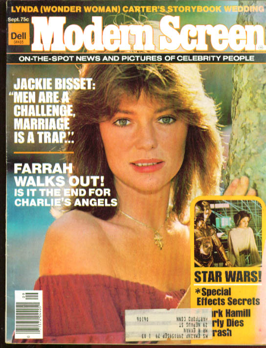 MODERN SCREEN Bisset Farrah Lynda Star Wars 9 1977