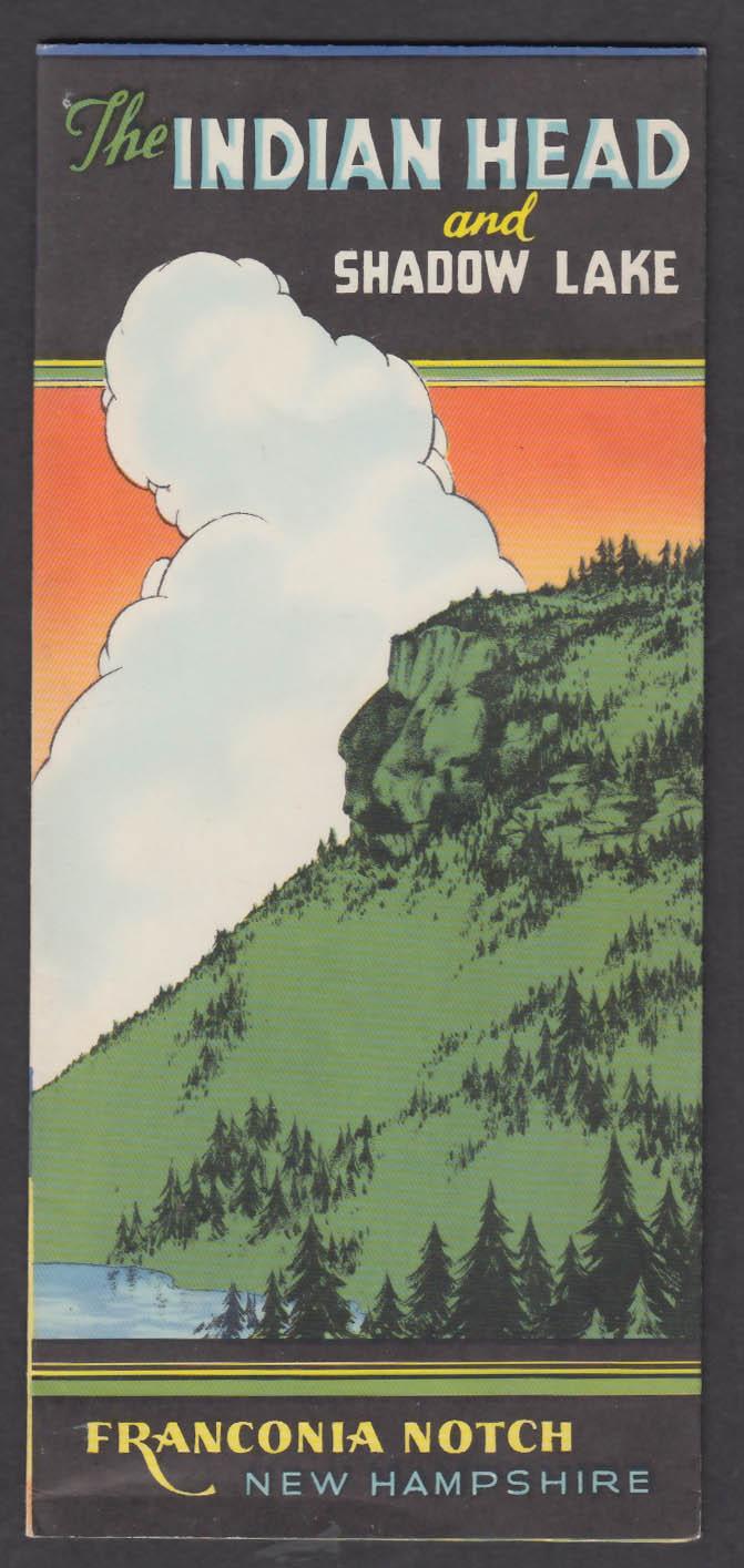 Indian Head Shadow Lake Franconia Notch NH folder 30s