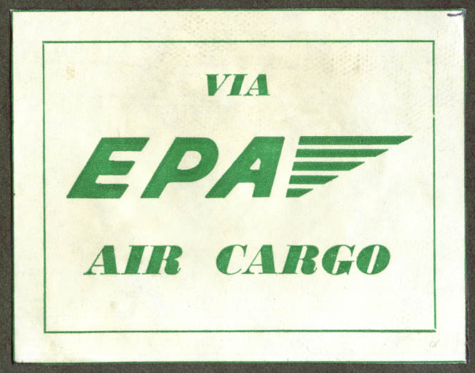 Via EPA Air Cargo sticker
