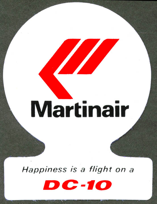 Martinair Happiness is a DC-10 baggage sticker
