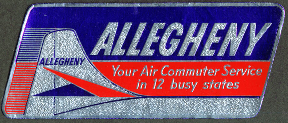 Allegheny Airlines Air Commuter Service baggage sticker