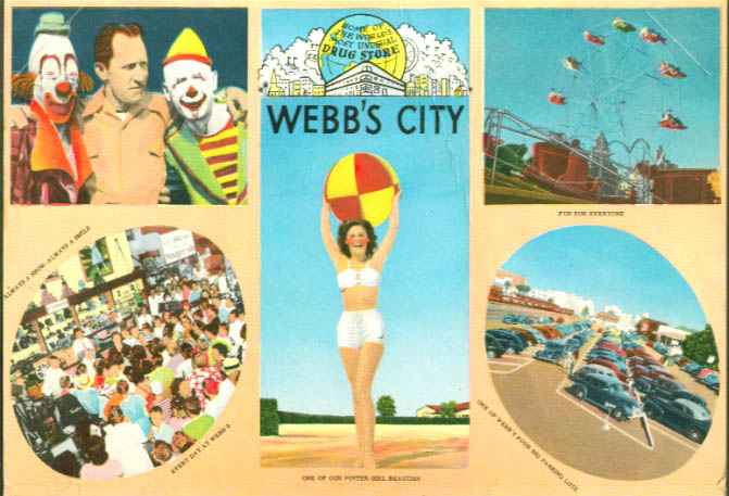 Webb's City Drug Store giant postcard mailer 1940s FL