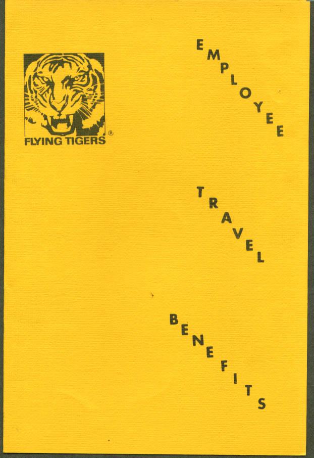 Flying Tiger Employee Travel Benefits folder 1976