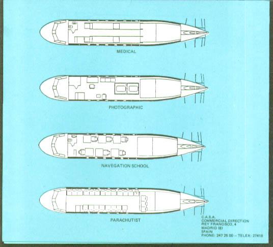 Aviocar C-212 Series 200 seating arrangement folder
