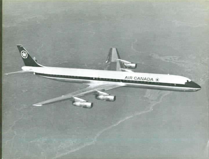 Air Canada Douglas DC-8-60 b&w print