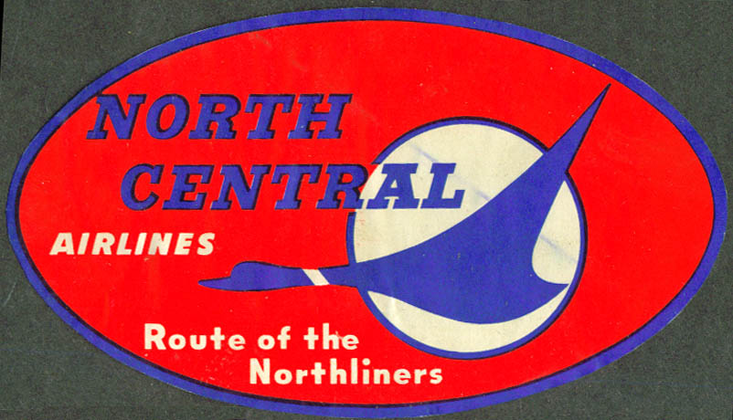 North Central Airlines Route of the Northliners sticker