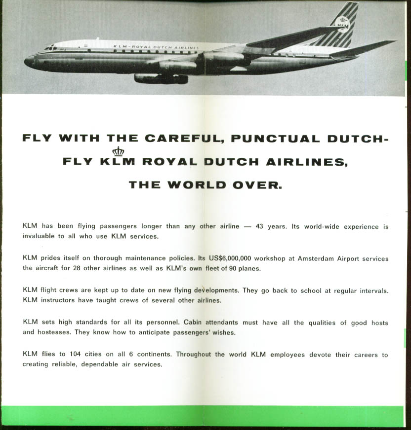 How KLM Cares for Children folder 1966