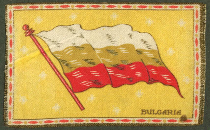 Bulgaria Flag tobacco flannel felt 1910s yellow ground