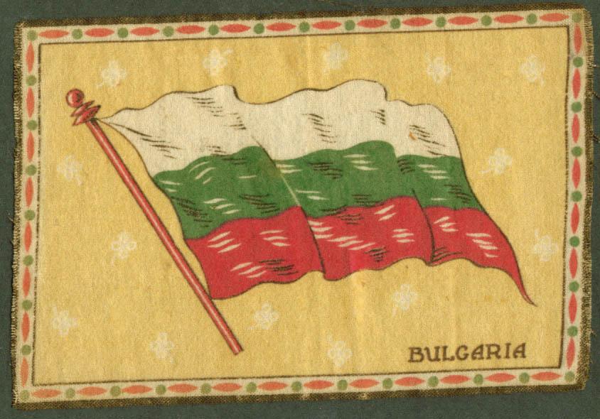 Bulgaria Flag tobacco flannel felt 1910s