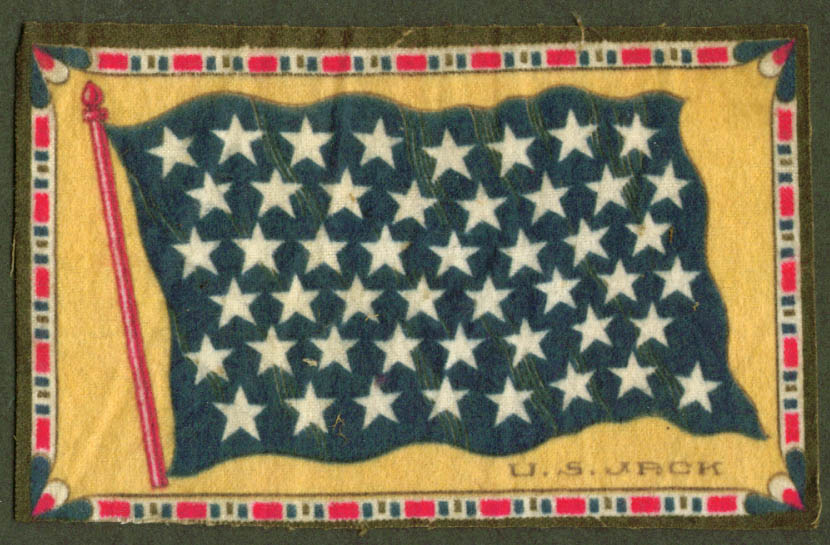 United States Union Jack Flag tobacco flannel felt 1910s