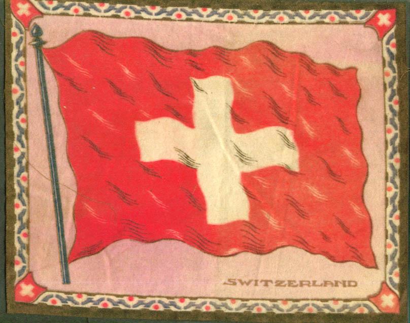 Switzerland Flag tobacco flannel felt 1910s