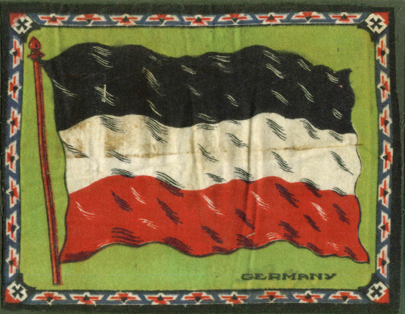 Germany Flag tobacco flannel felt 1910s