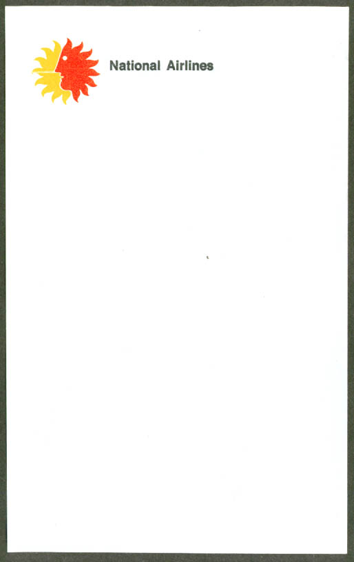 National Airlines air mail onionskin letterhead