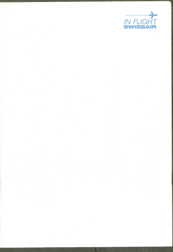 Swissair in-flight air mail notepaper unused 1960s