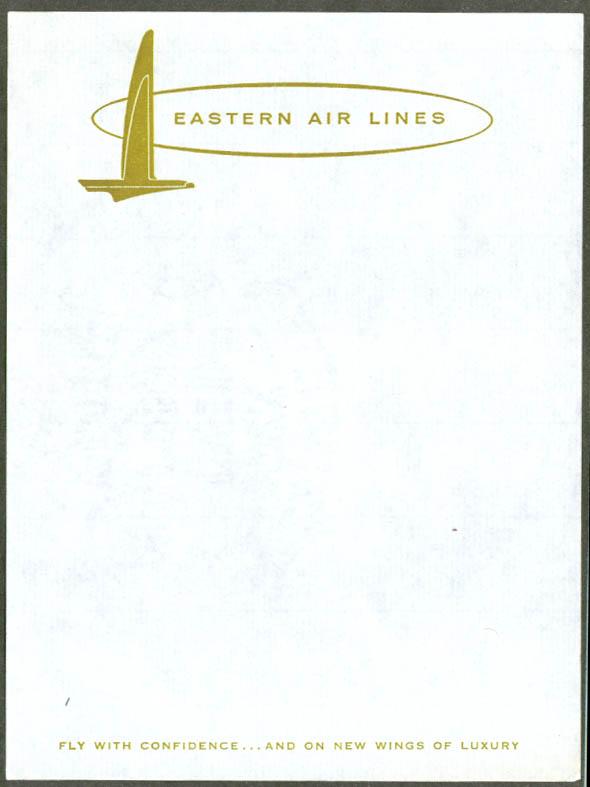 Eastern Air Lines in flight air mail letterhead 1950s