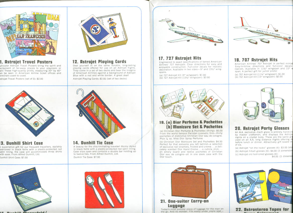 American Airlines Astrogifts catalog self-mailer 1960s