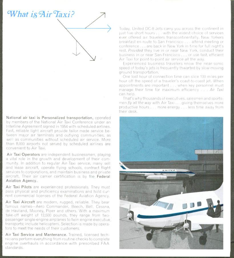 United Air Lines & Air Taxi folder 1967