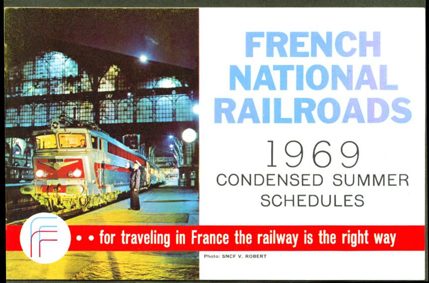 French National Railroads Condensed TT Summer 1969