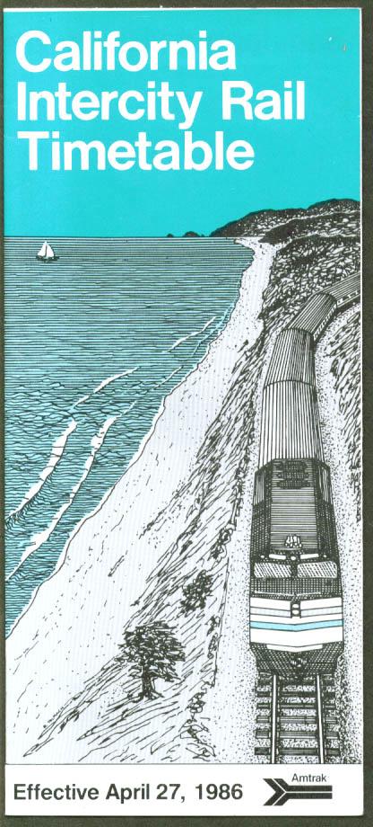 Amtrak California Intercity TT 4/27 1986
