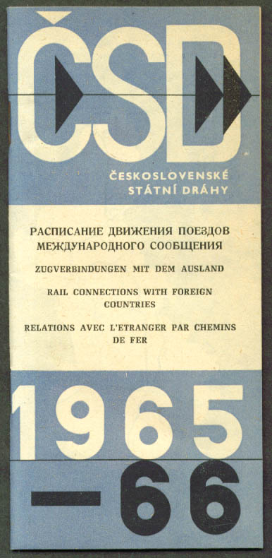 Czechoslovakian RR Foreign Country Connections 1965-6