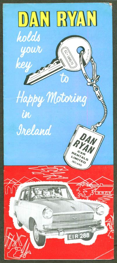 Dan Ryan Car Rentals Ireland folder 1960s