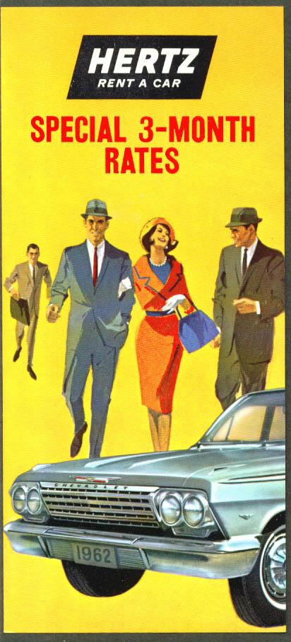 Hertz Special 3-Month Rates folder 1962