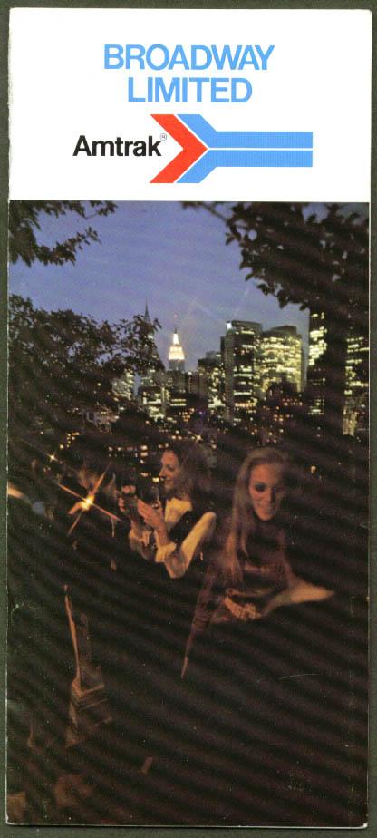 Amtrak Broadway Limited brochure 1974