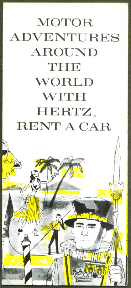 Hertz Motor Adventures Around the World folder 1958