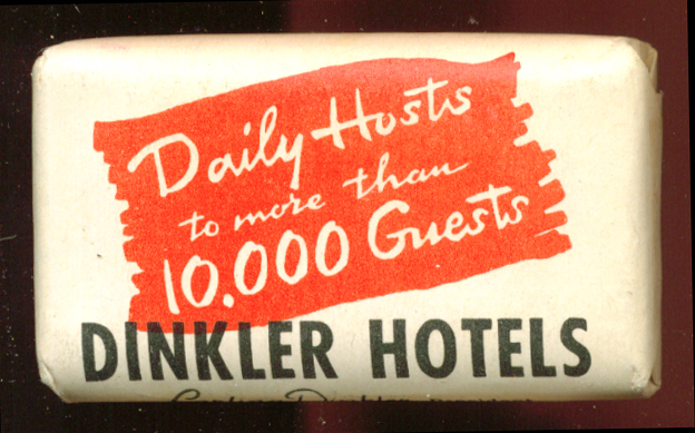 Dinkler Hotels guest bar of soap 1950s
