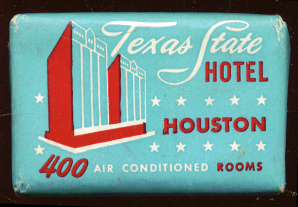 Texas State Hotel Houston TX guest bar of Dial soap