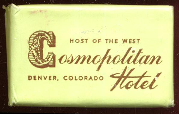 Cosmopolitan Hotel Denver CO guest bar of soap