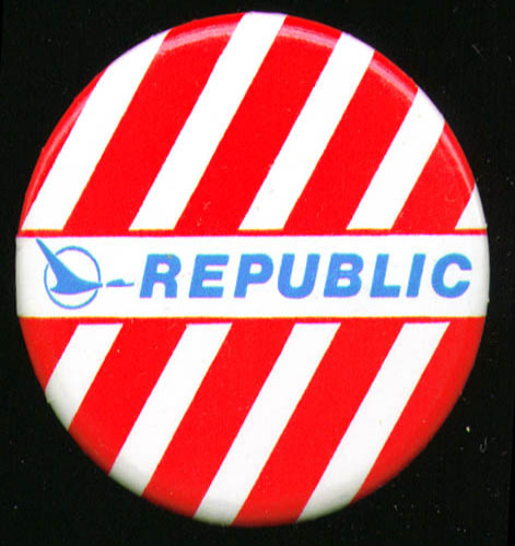 "Republic Airlines 2 1/4"" pinback"