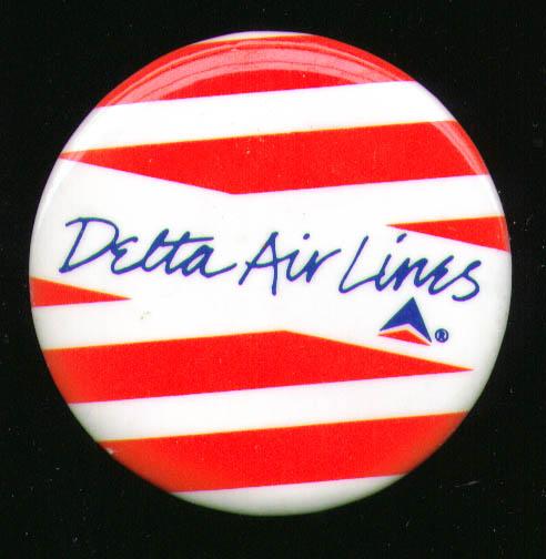 """Delta Air Lines 2 1/4"""" pinback"""