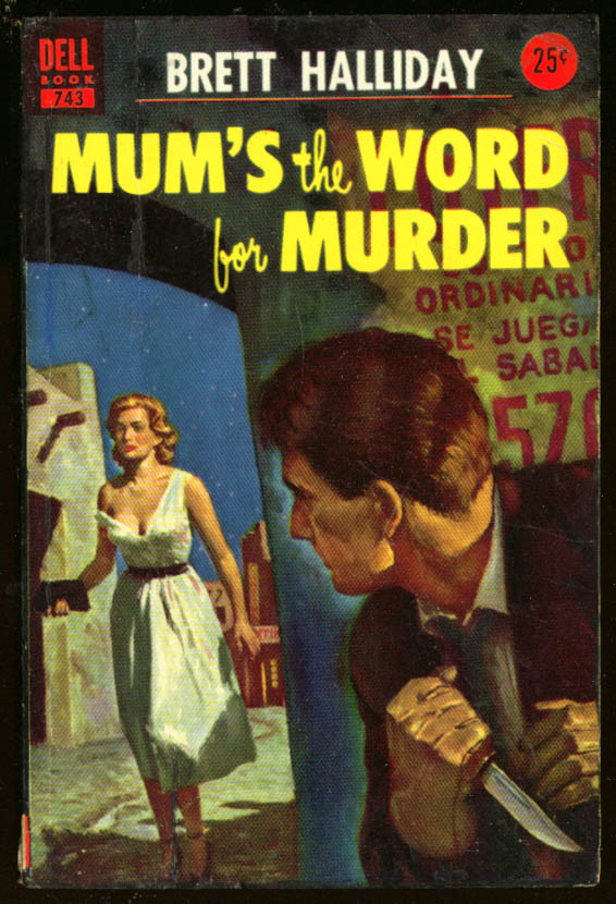 Halliday: Mum's the Word for Murder GGA pb blonde knife