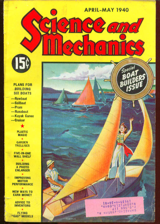 SCIENCE & MECHANICS Boat-builders Issue 4-5 1940