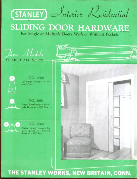 Stanley Interior Residential Sliding Door Hardware 50s
