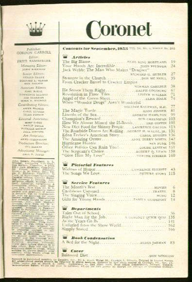 CORONET Jack Webb Edna Ferber H-Bomb 9 1953