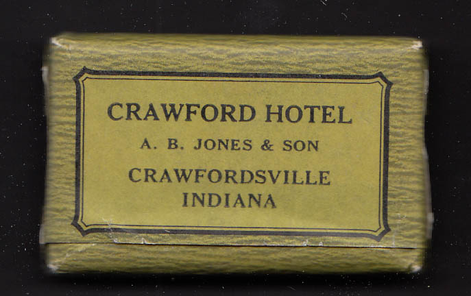 Crawford Hotel Crawfordsville IN guest Palmolive soap